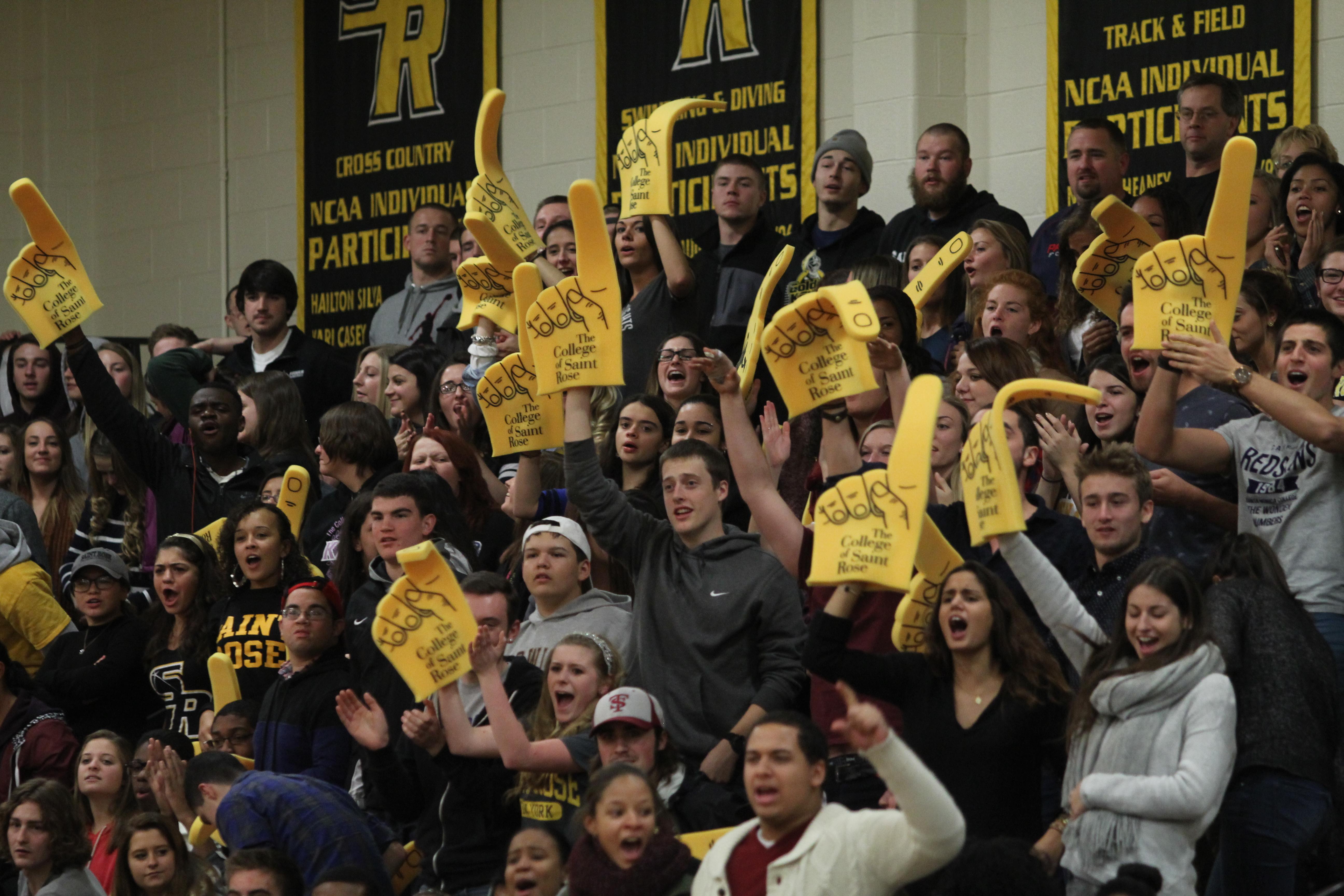 Fans in the Nolan Gymnasium